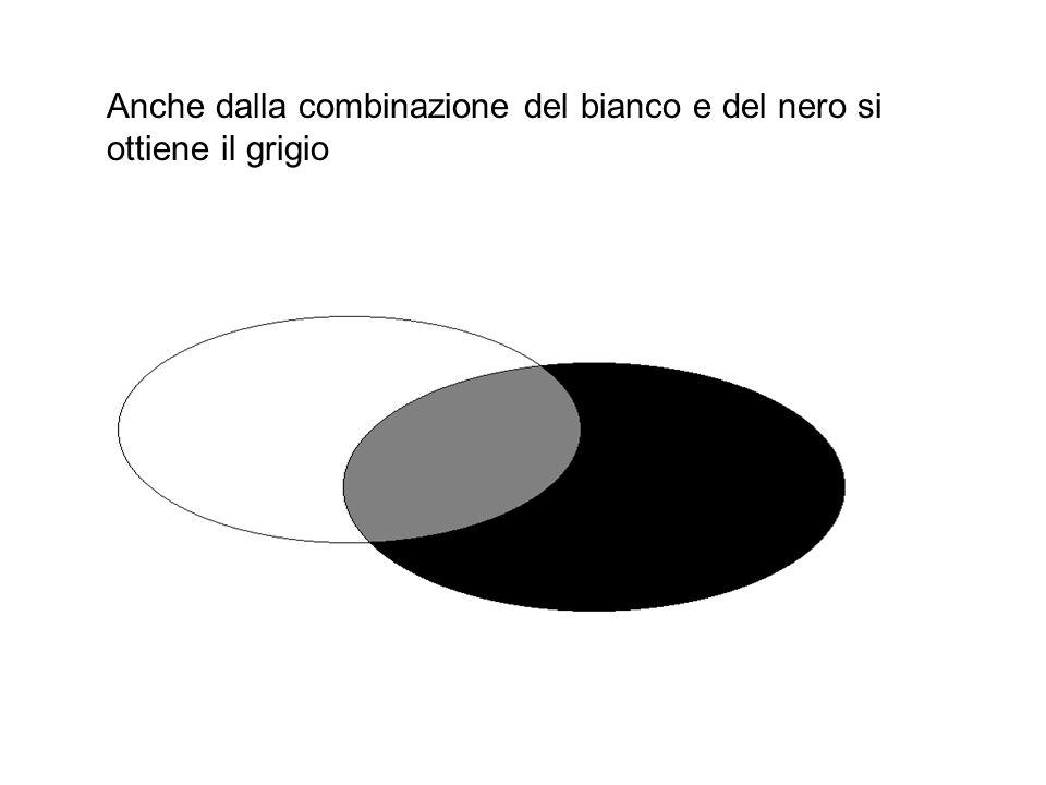 Anche dalla combinazione del bianco e del nero si ottiene il grigio