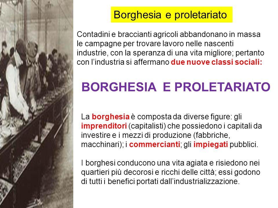 BORGHESIA E PROLETARIATO