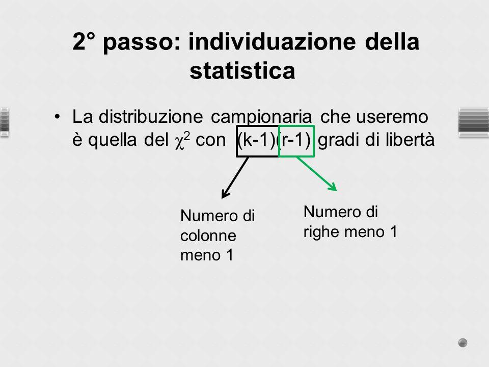 2° passo: individuazione della statistica
