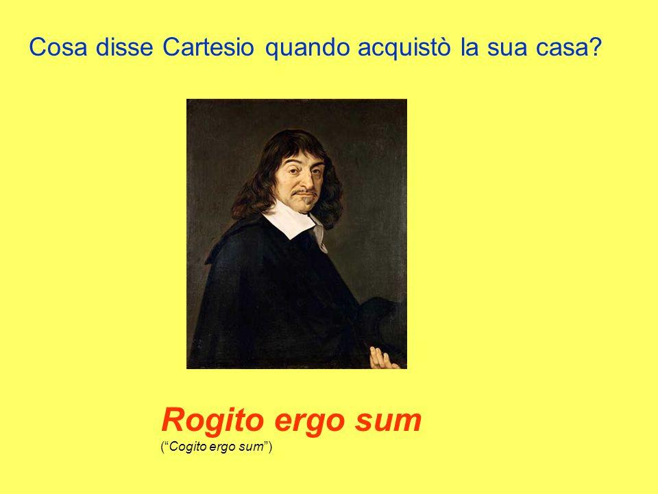 Rogito ergo sum ( Cogito ergo sum )
