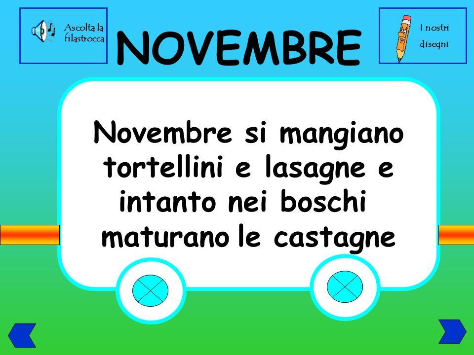 NOVEMBRE Novembre si mangiano tortellini e lasagne e