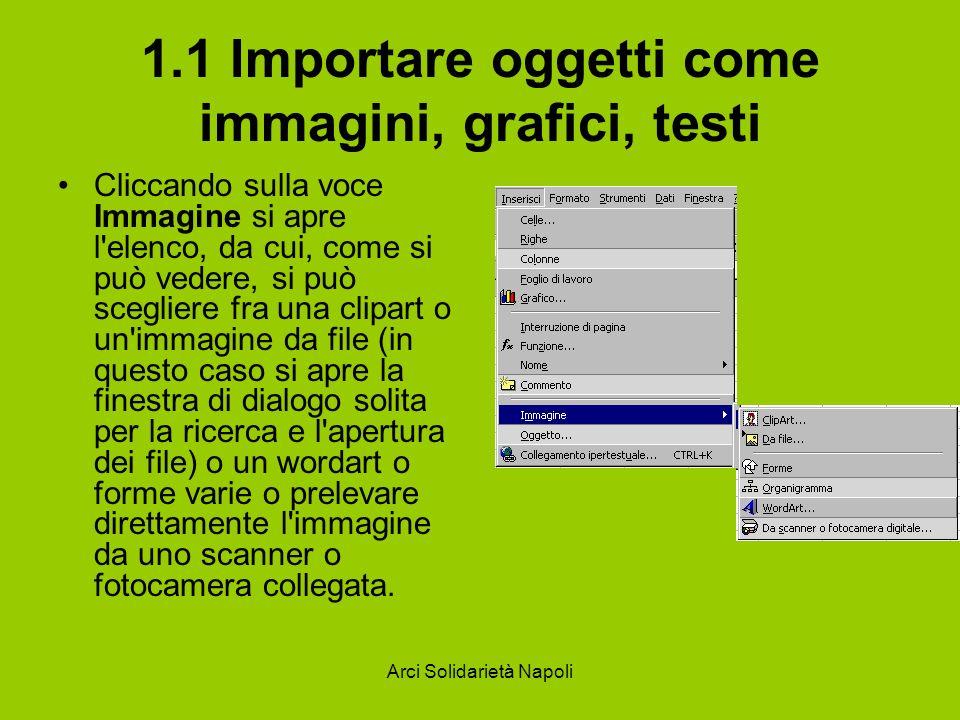 1.1 Importare oggetti come immagini, grafici, testi