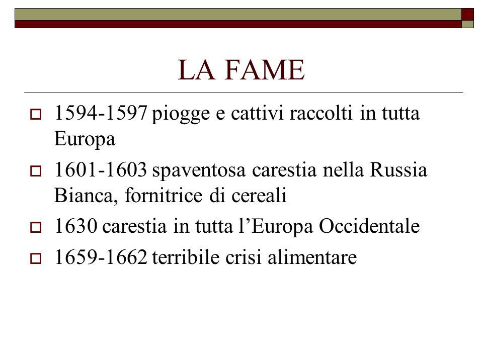 LA FAME 1594-1597 piogge e cattivi raccolti in tutta Europa