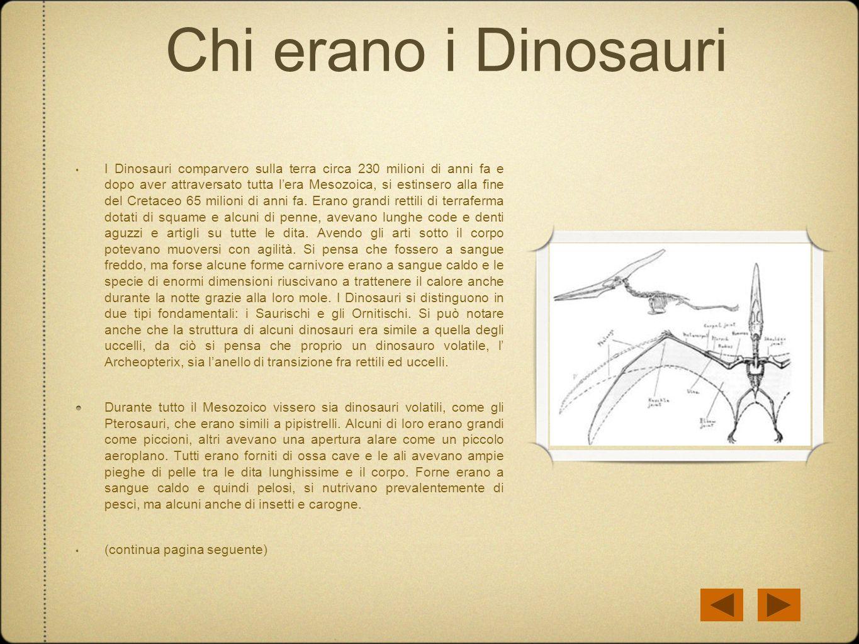 Chi erano i Dinosauri