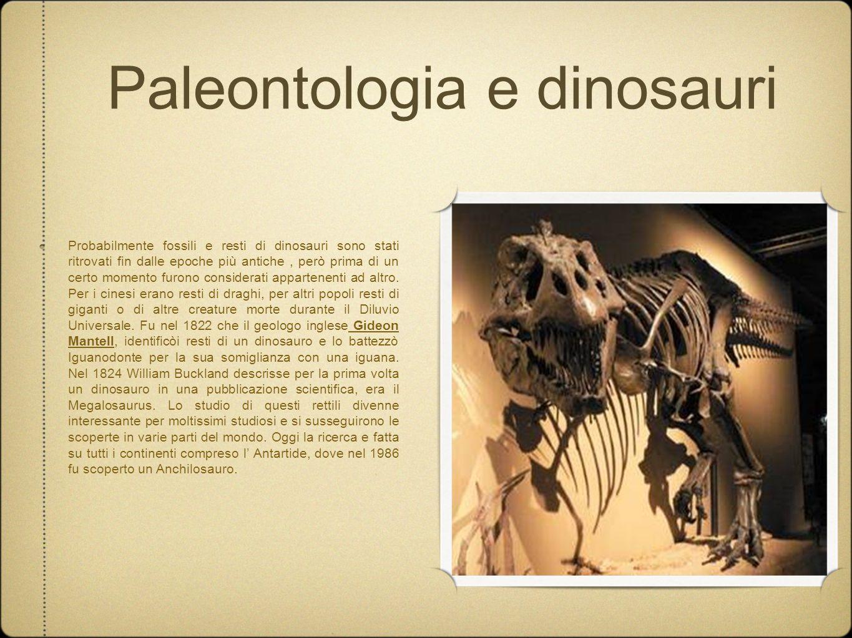 Paleontologia e dinosauri