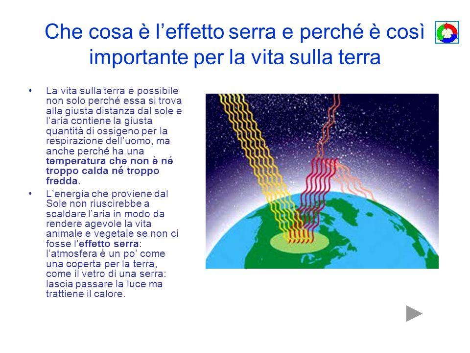 Che cosa è l'effetto serra e perché è così importante per la vita sulla terra