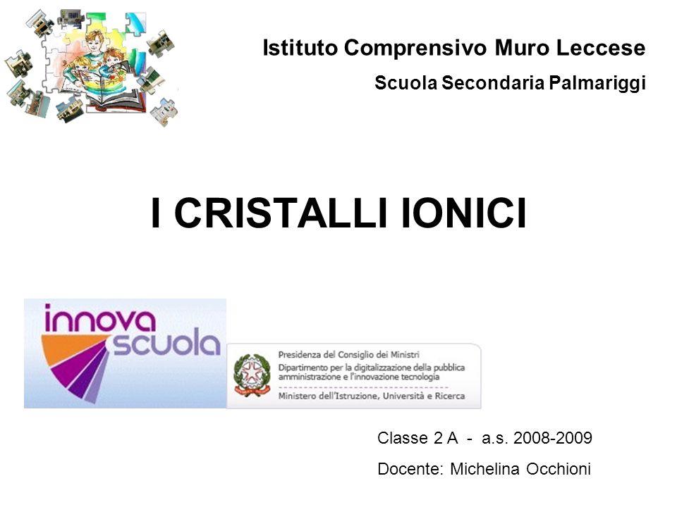 I CRISTALLI IONICI Istituto Comprensivo Muro Leccese