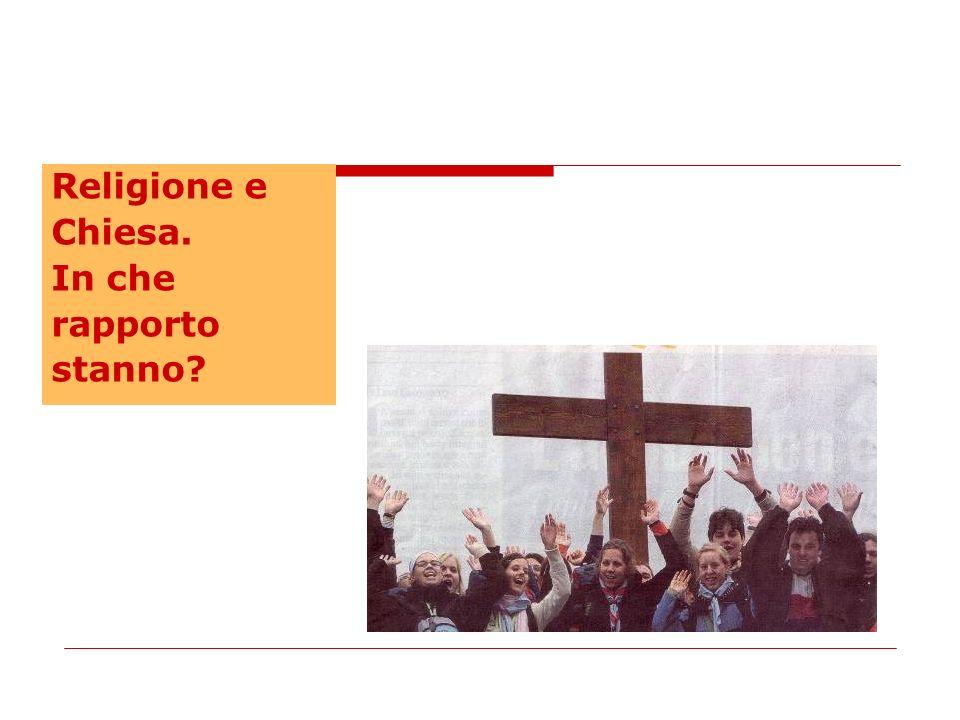 Religione e Chiesa. In che rapporto stanno