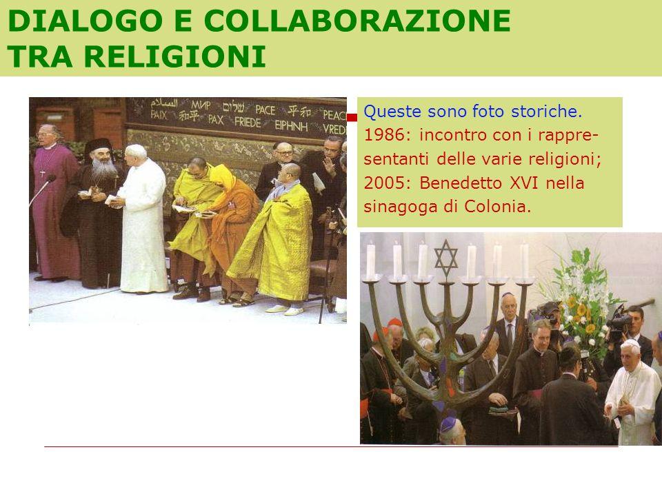 DIALOGO E COLLABORAZIONE TRA RELIGIONI