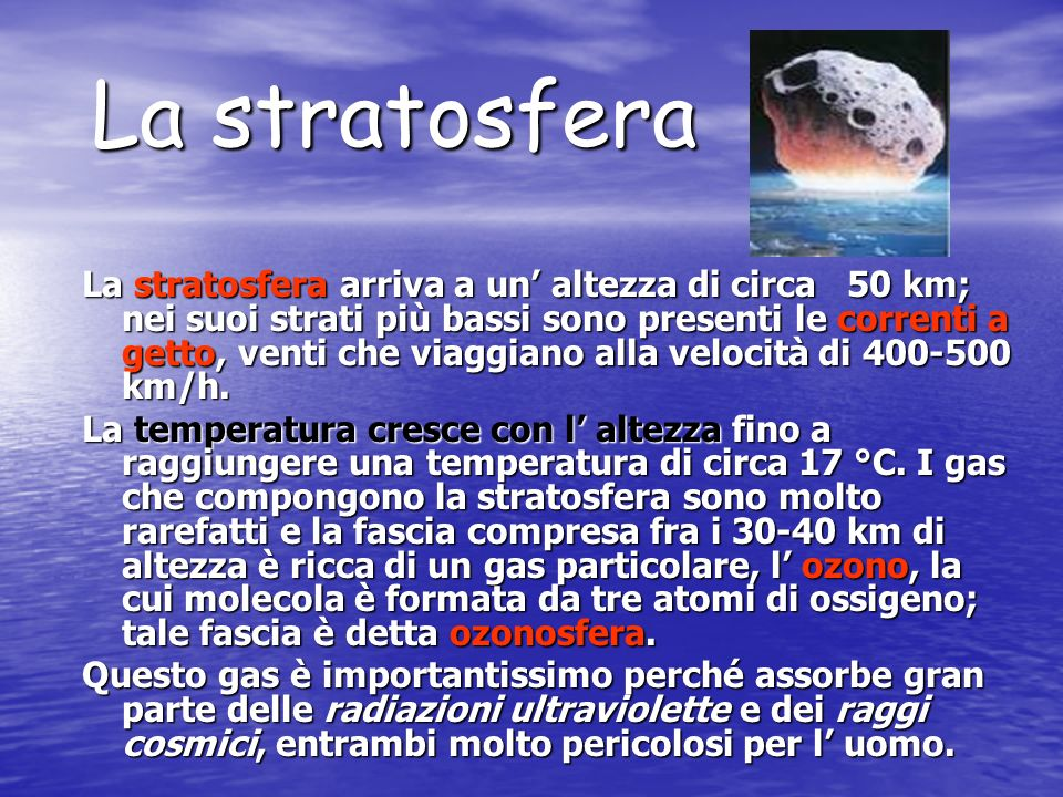 La stratosfera
