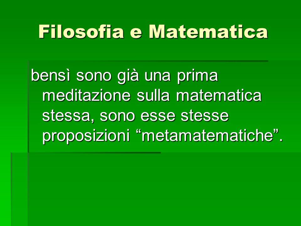 Filosofia e Matematica