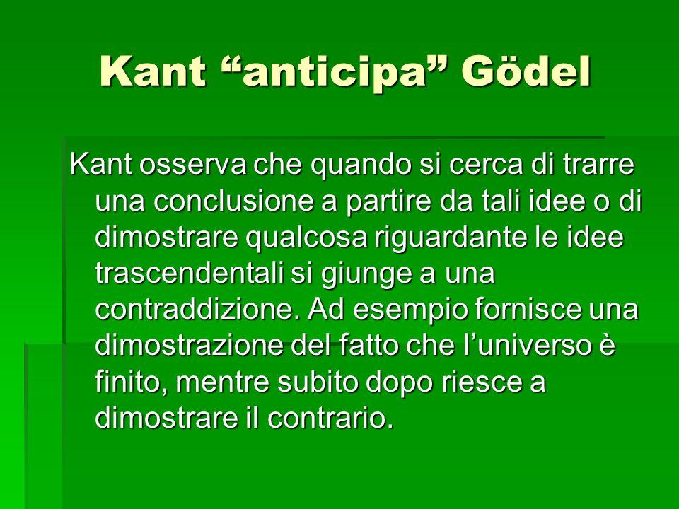 Kant anticipa Gödel