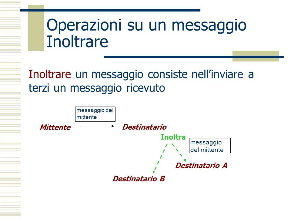 Operazioni su un messaggio Inoltrare