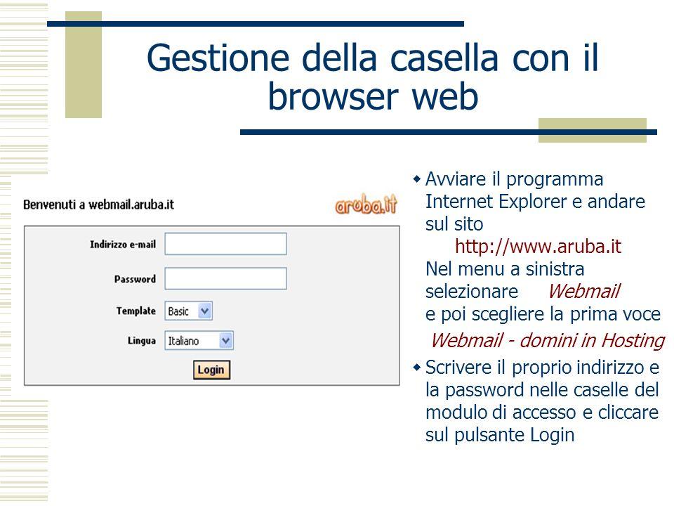 Gestione della casella con il browser web