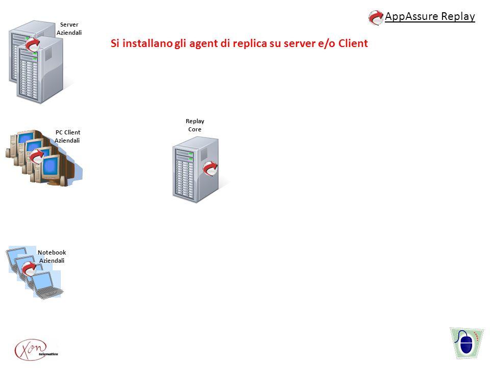 Si installano gli agent di replica su server e/o Client