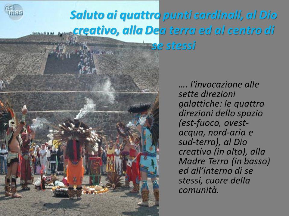 Saluto ai quattro punti cardinali, al Dio creativo, alla Dea terra ed al centro di se stessi
