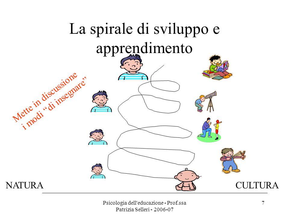 La spirale di sviluppo e apprendimento