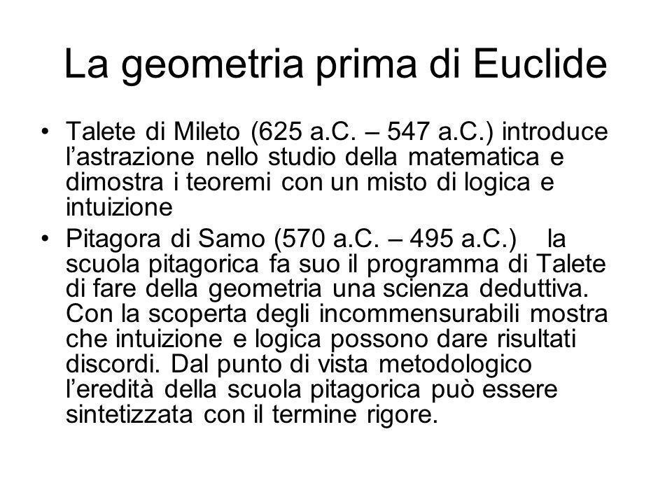 La geometria prima di Euclide