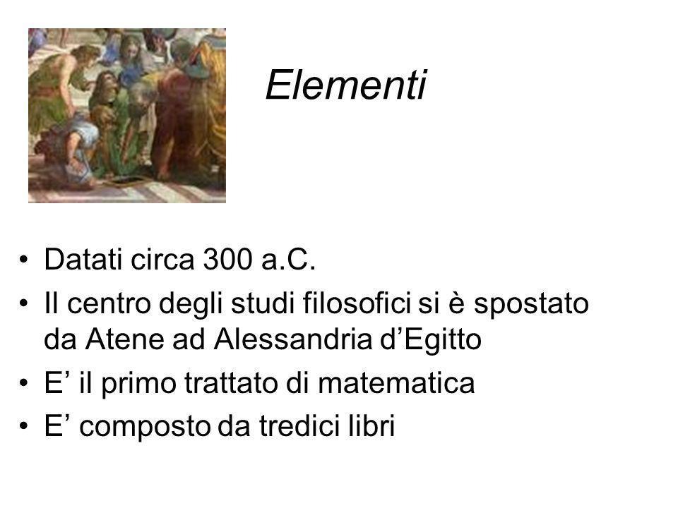 Elementi Datati circa 300 a.C.