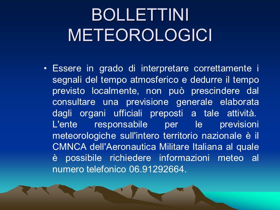 BOLLETTINI METEOROLOGICI