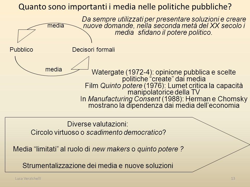 Quanto sono importanti i media nelle politiche pubbliche