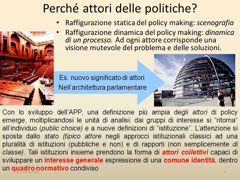 Perché attori delle politiche