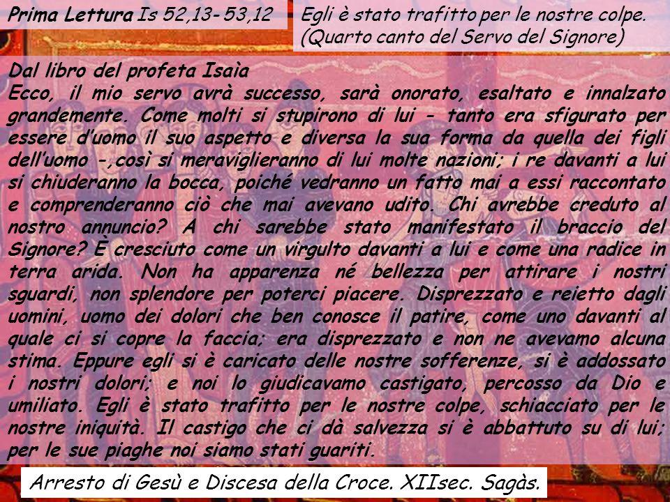 Arresto di Gesù e Discesa della Croce. XIIsec. Sagàs.