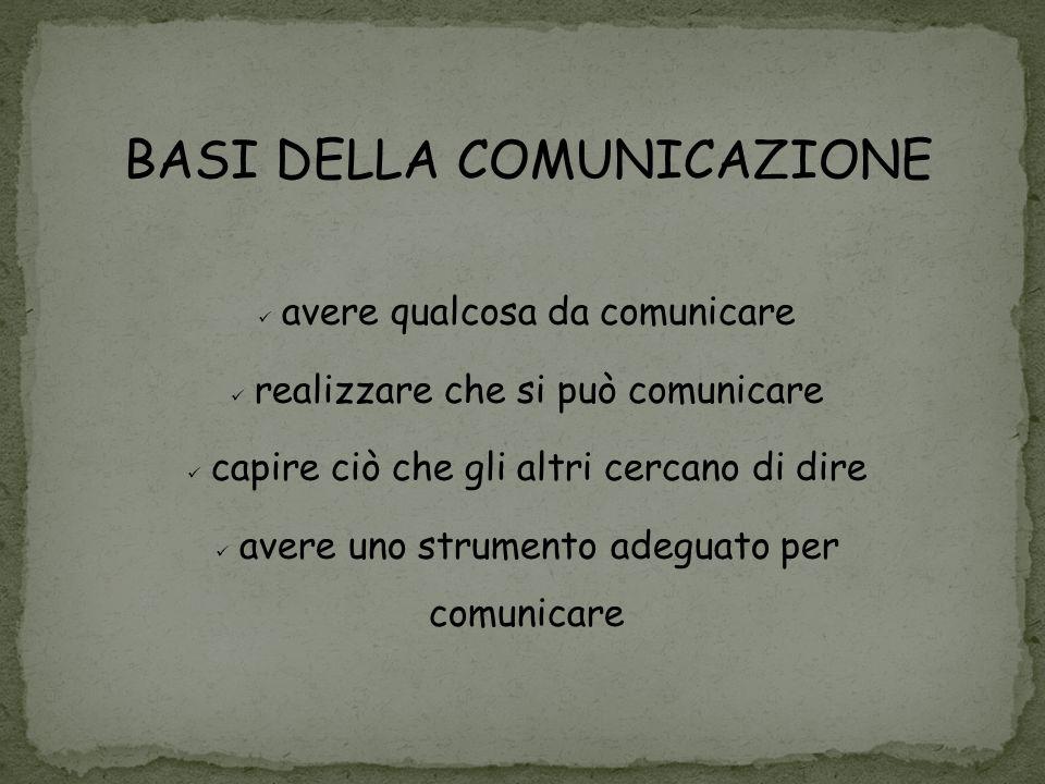 BASI DELLA COMUNICAZIONE