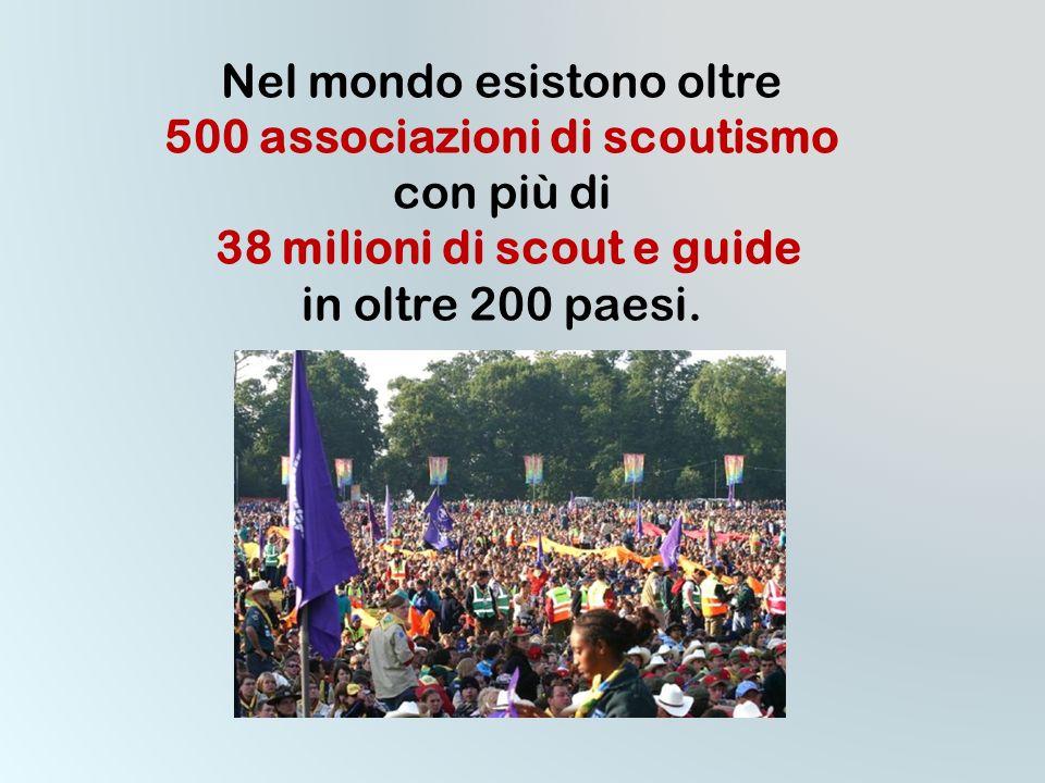 Nel mondo esistono oltre 500 associazioni di scoutismo con più di