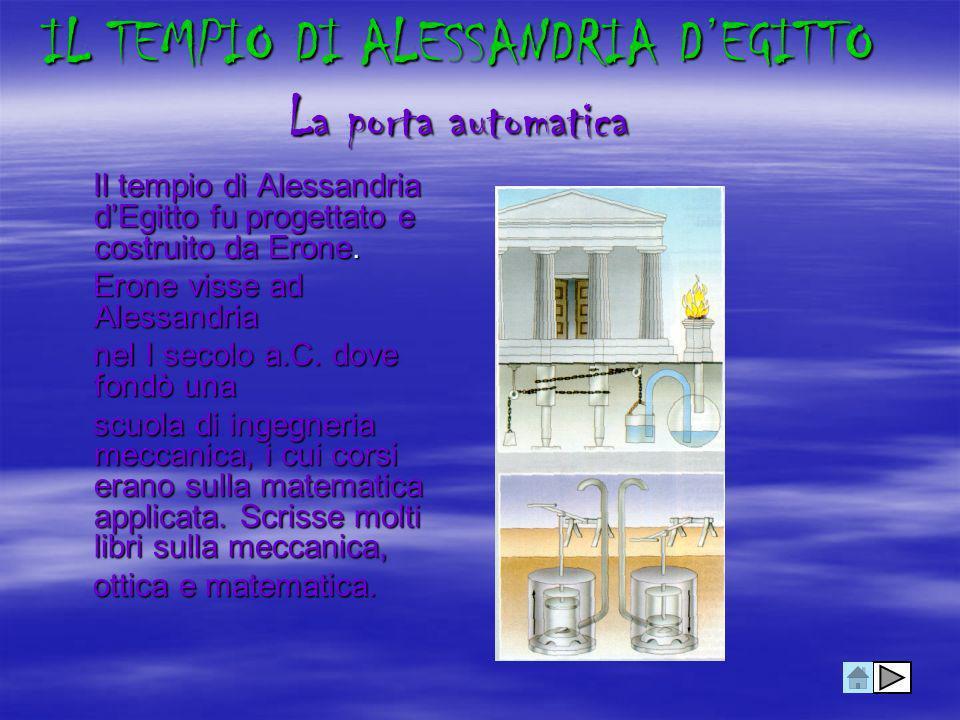 IL TEMPIO DI ALESSANDRIA D'EGITTO La porta automatica
