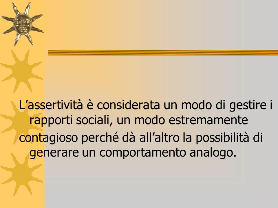 L'assertività è considerata un modo di gestire i rapporti sociali, un modo estremamente