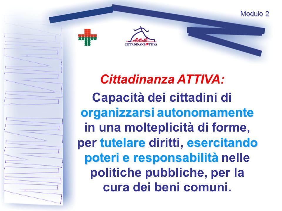 Modulo 2 Cittadinanza ATTIVA: