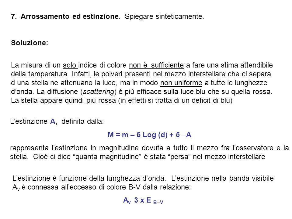 7. Arrossamento ed estinzione. Spiegare sinteticamente.