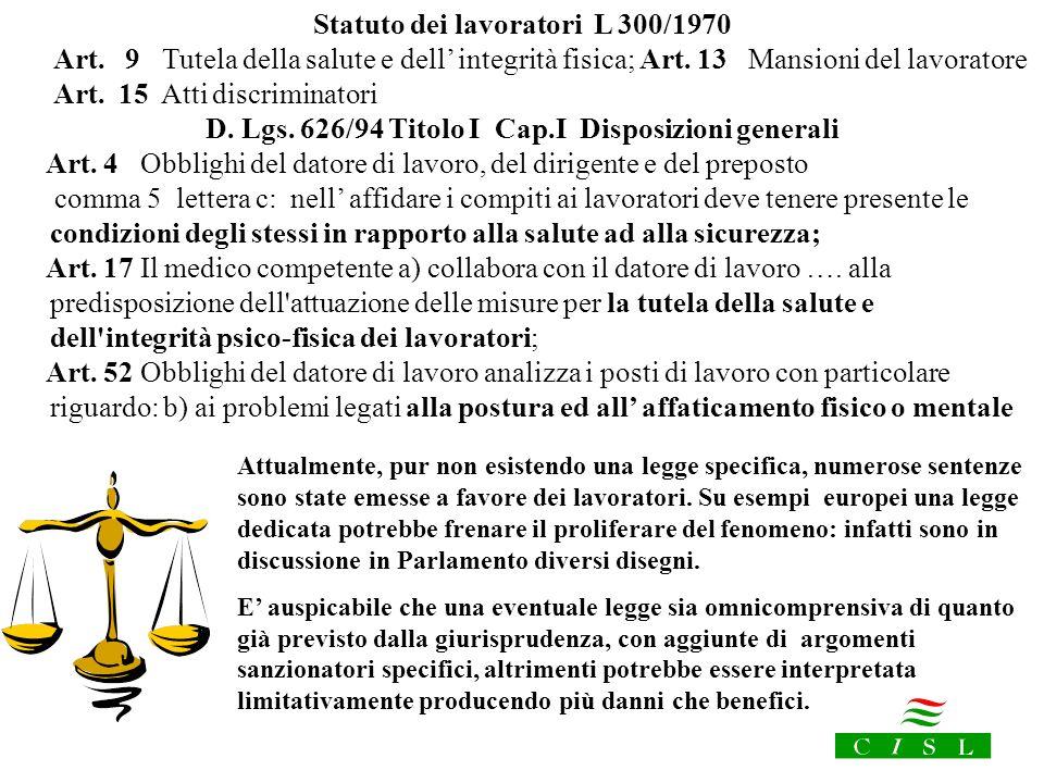 Statuto dei lavoratori L 300/1970