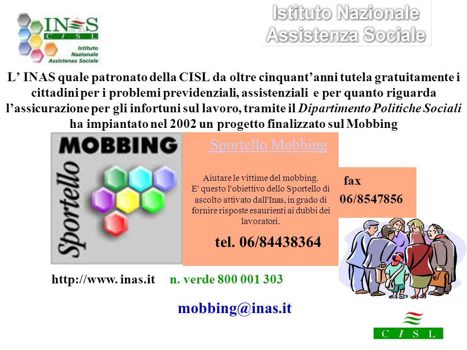 http://www. inas.it n. verde 800 001 303