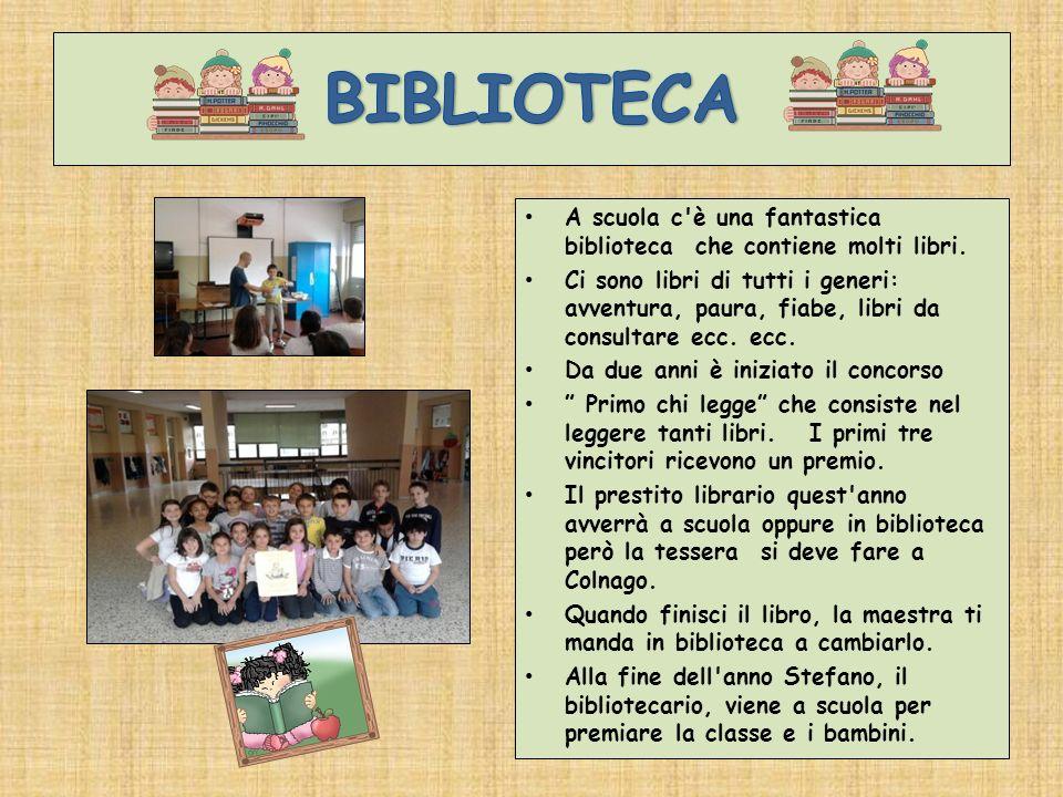 BIBLIOTECAA scuola c è una fantastica biblioteca che contiene molti libri.