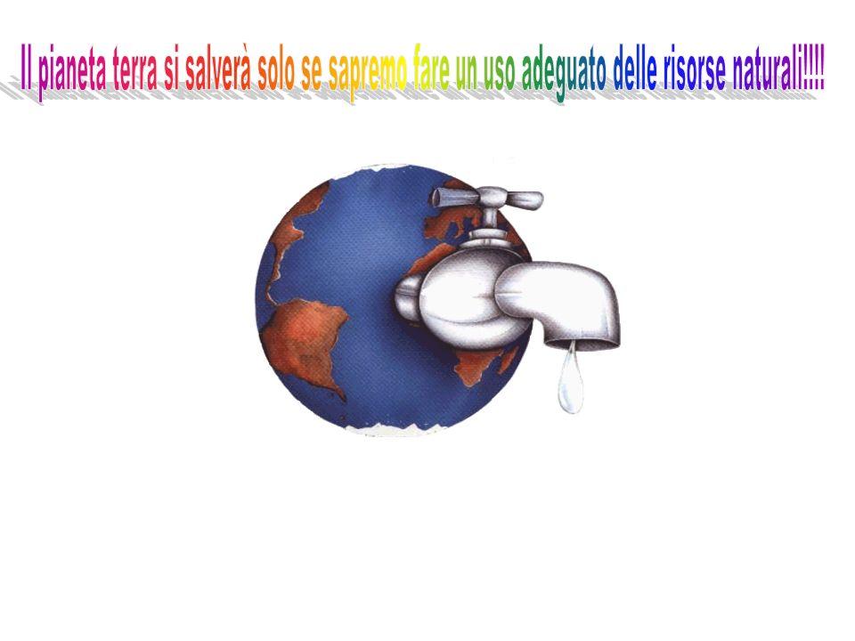 Il pianeta terra si salverà solo se sapremo fare un uso adeguato delle risorse naturali!!!!