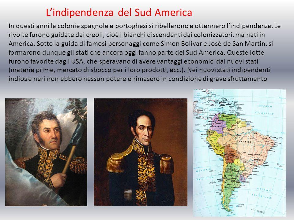 L'indipendenza del Sud America