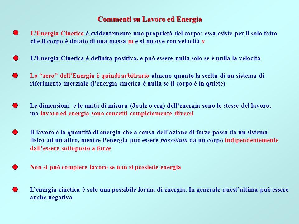 Commenti su Lavoro ed Energia