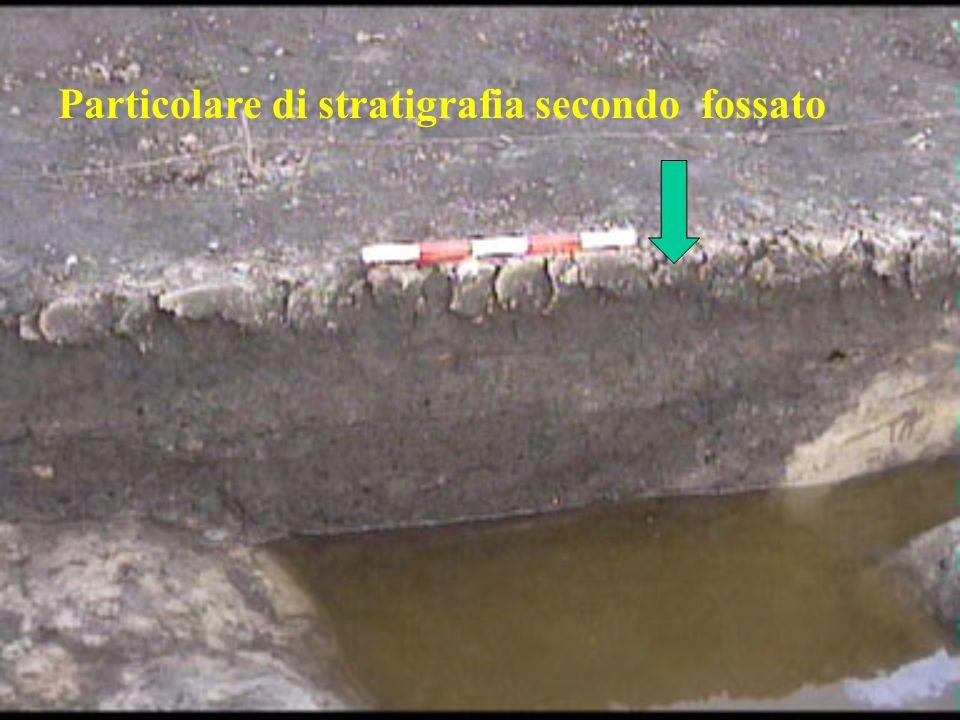 Particolare di stratigrafia secondo fossato