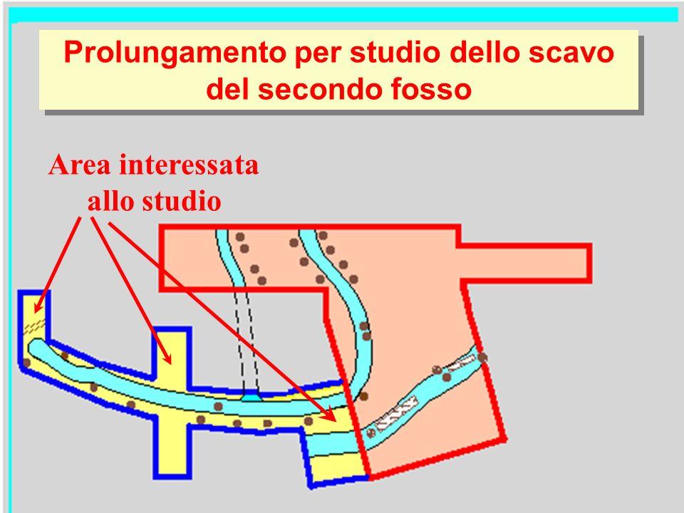Prolungamento per studio dello scavo del secondo fosso