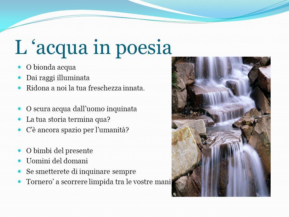 L 'acqua in poesia O bionda acqua Dai raggi illuminata