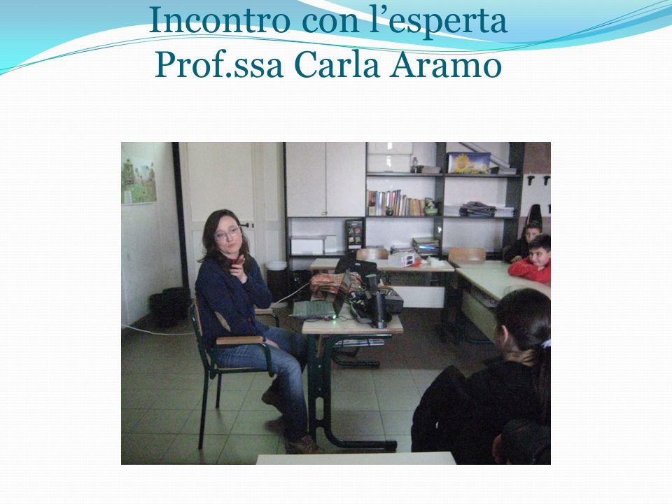 Incontro con l'esperta Prof.ssa Carla Aramo