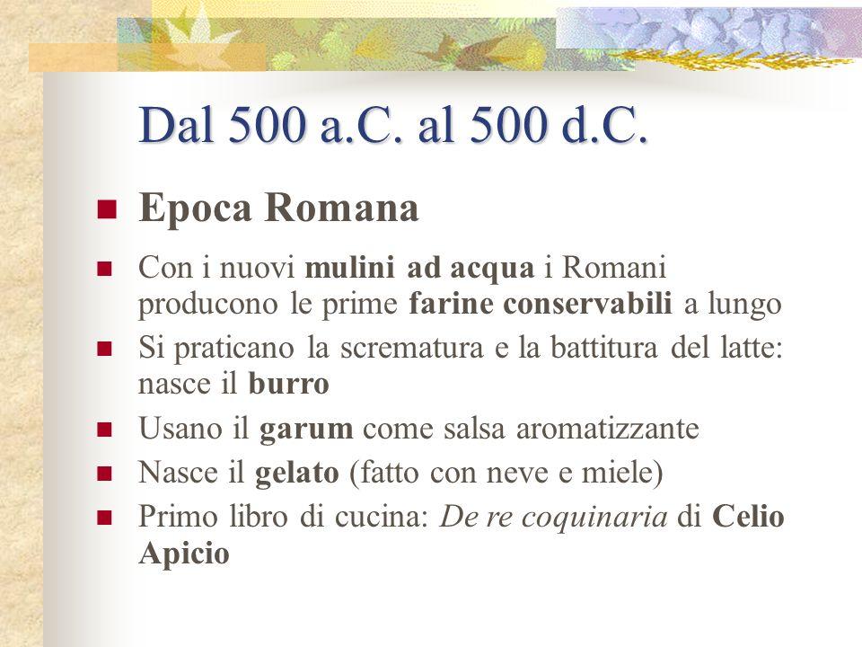 Dal 500 a.C. al 500 d.C. Epoca Romana