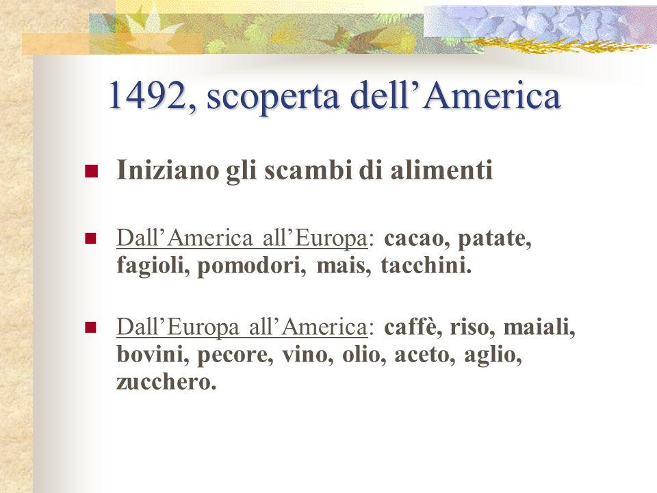 1492, scoperta dell'America
