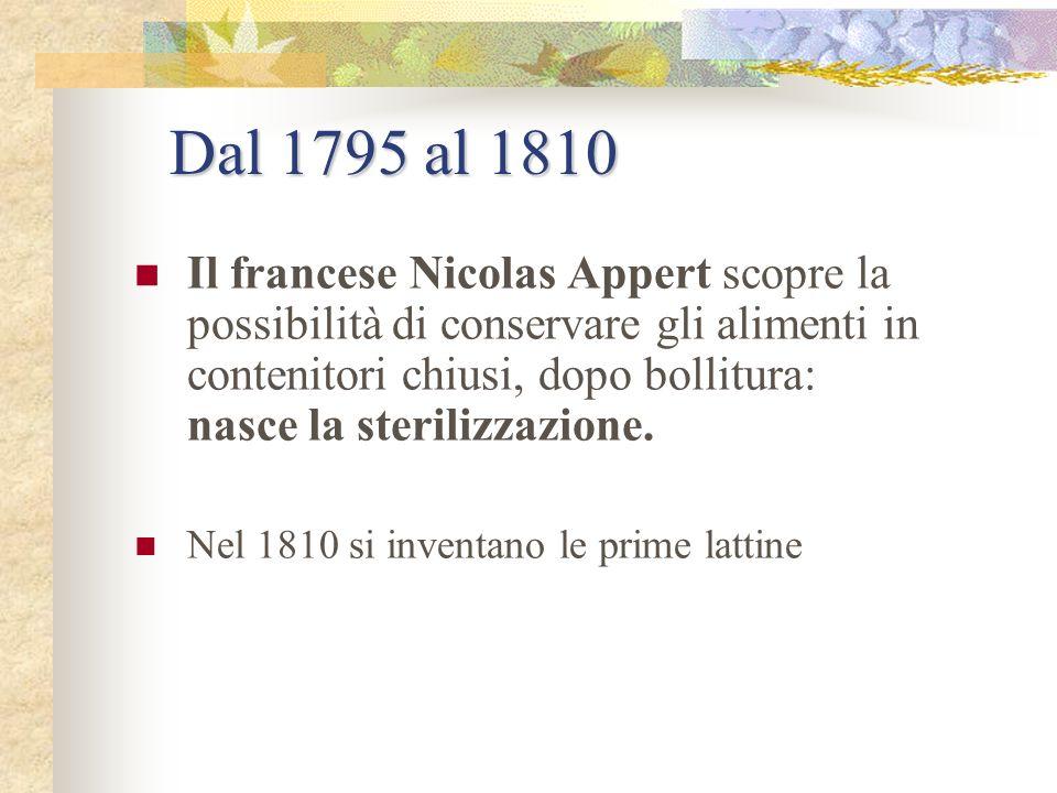 Dal 1795 al 1810