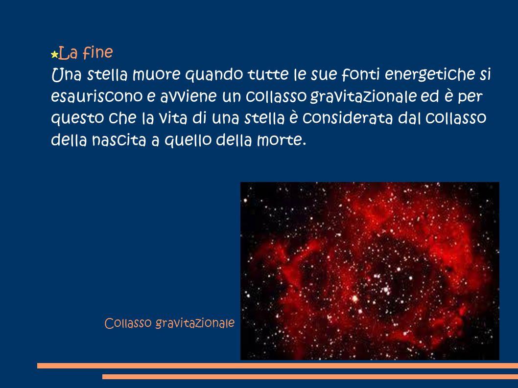 Una stella muore quando tutte le sue fonti energetiche si