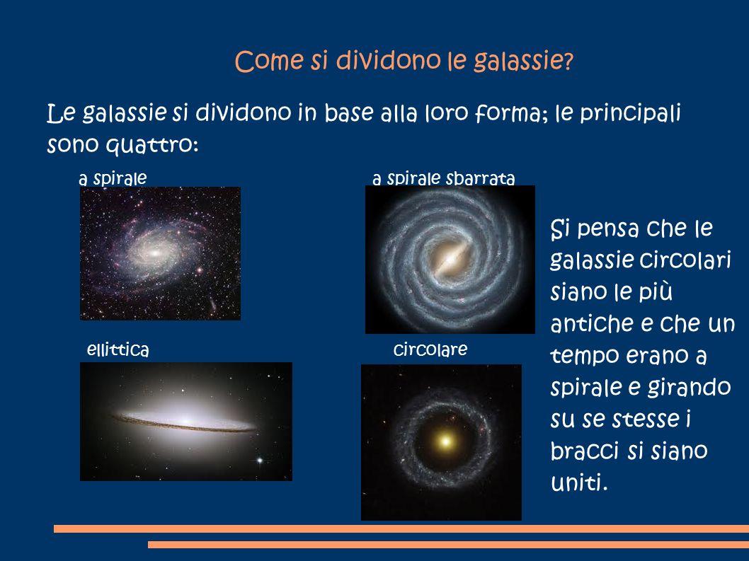 Come si dividono le galassie