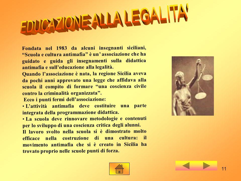 EDUCAZIONE ALLA LEGALITA
