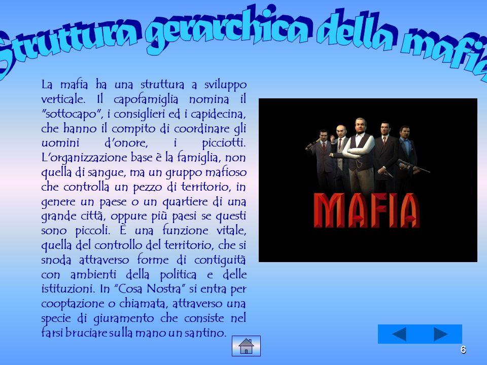 Struttura gerarchica della mafia